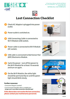 Lost Connection Checklist